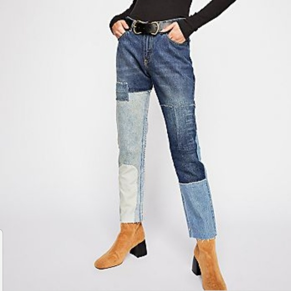 Free People Denim - Free People x scotch & soda patchwork Jeans 29/32